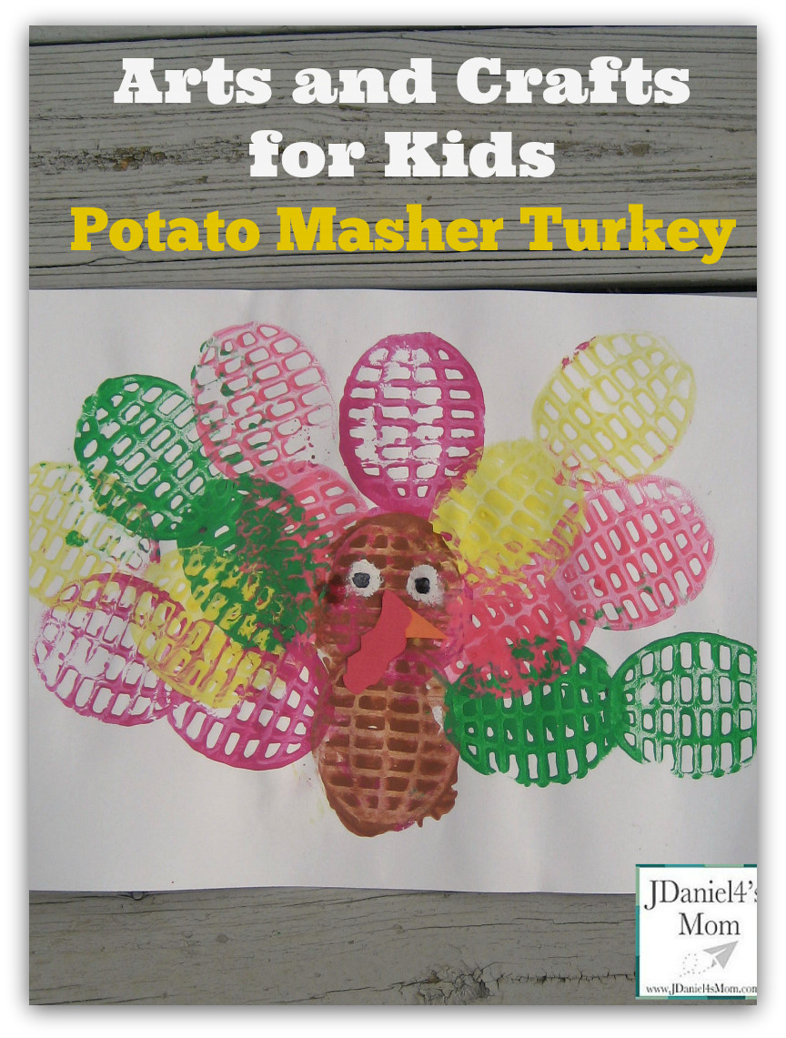 Best ideas about Arts & Crafts For Kids . Save or Pin Arts and Crafts for Kids Potato Masher Painted Turkey Now.