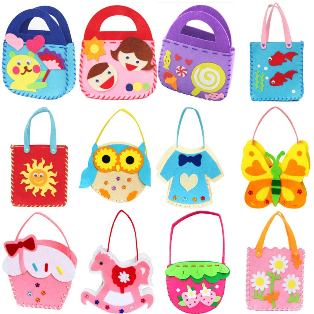 Best ideas about Arts And Craft Ideas For Kids . Save or Pin Non woven Cloth Cartoon Animal Flower Handmade Kids Now.