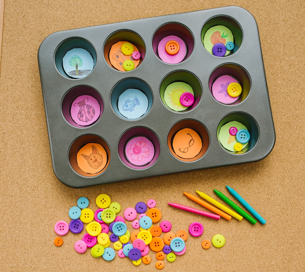 Best ideas about Arts And Craft Ideas For Kids . Save or Pin Muffin Tin Syllable Counting Game For Kids Now.