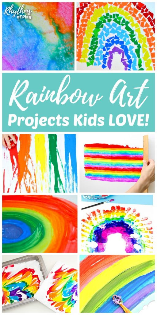 Best ideas about Arts And Craft Ideas For Kids . Save or Pin Rainbow Art Projects Kids LOVE and Rainbow Crafts Too Now.