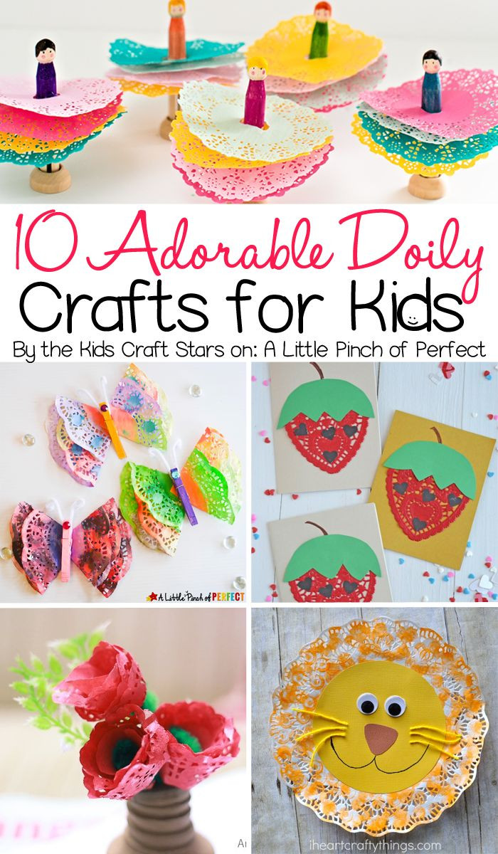 Best ideas about Arts And Craft Ideas For Kids . Save or Pin 10 Adorable Doily Crafts for Kids to Make including Now.