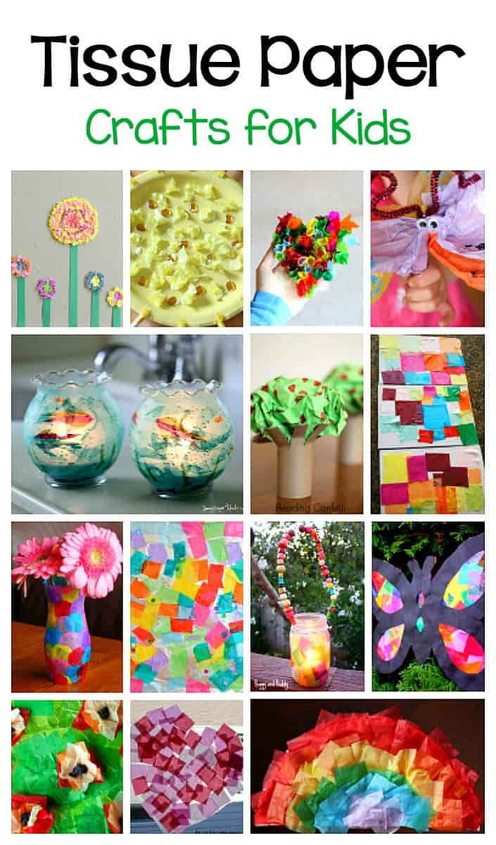 Best ideas about Arts And Craft Ideas For Kids . Save or Pin 20 Tissue Paper Crafts for Kids Buggy and Buddy Now.