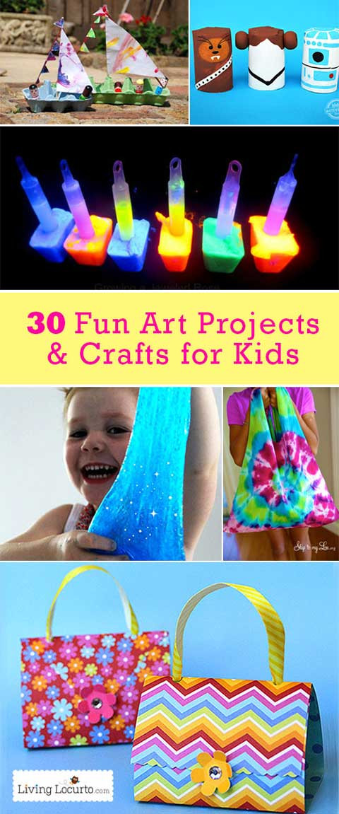 Best ideas about Arts And Craft Ideas For Kids . Save or Pin 30 Easy Art Projects & Crafts for Kids Useful Ideas Now.