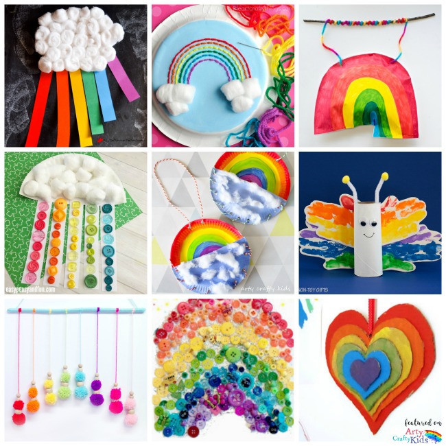 Best ideas about Arts And Craft Ideas For Kids . Save or Pin 22 Rainbow Kids Crafts Arty Crafty Kids Now.