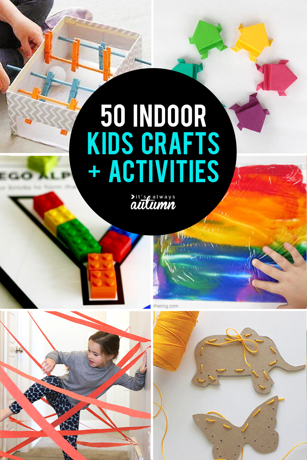 Best ideas about Arts And Crafts Activities For Kids . Save or Pin 50 best indoor activities for kids It s Always Autumn Now.