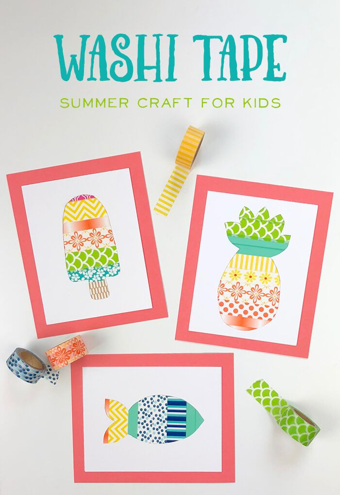 Best ideas about Arts And Crafts For Kids Ideas . Save or Pin A Fun Washi Tape Summer Crafts for Kids The Idea Room Now.