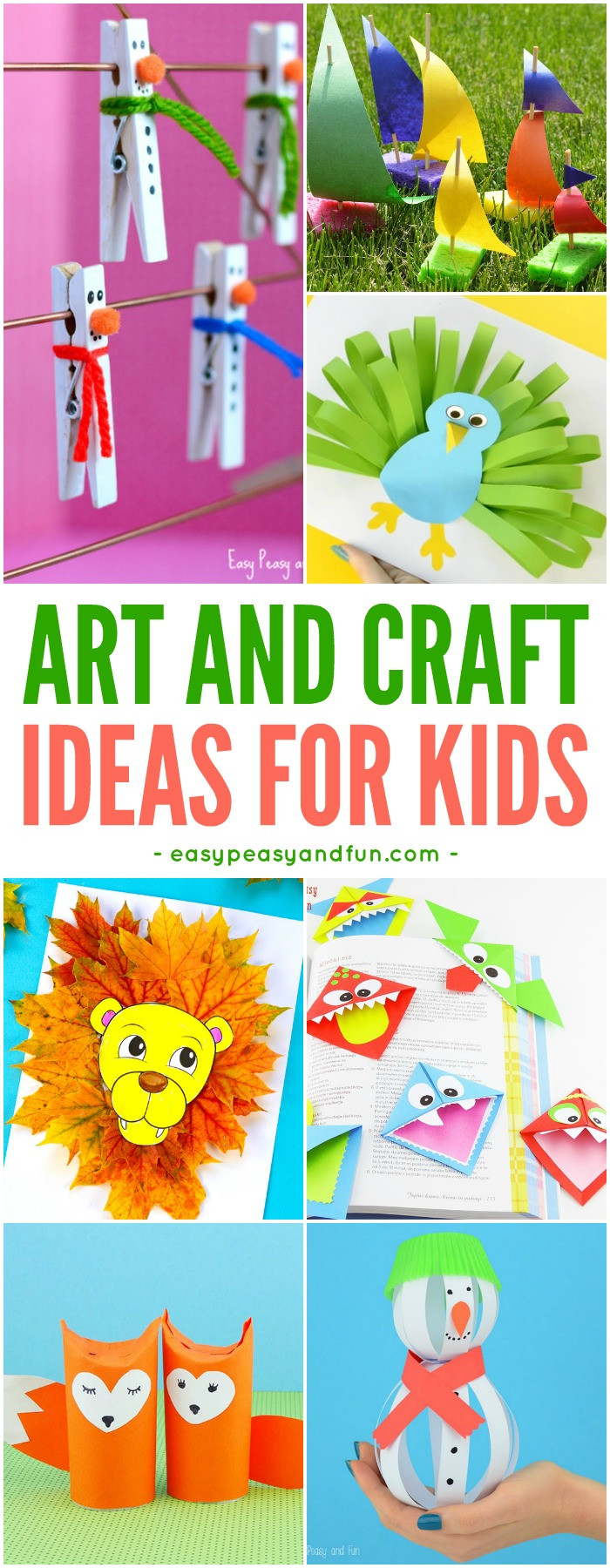 Best ideas about Arts And Crafts For Kids Ideas . Save or Pin Crafts For Kids Tons of Art and Craft Ideas for Kids to Now.