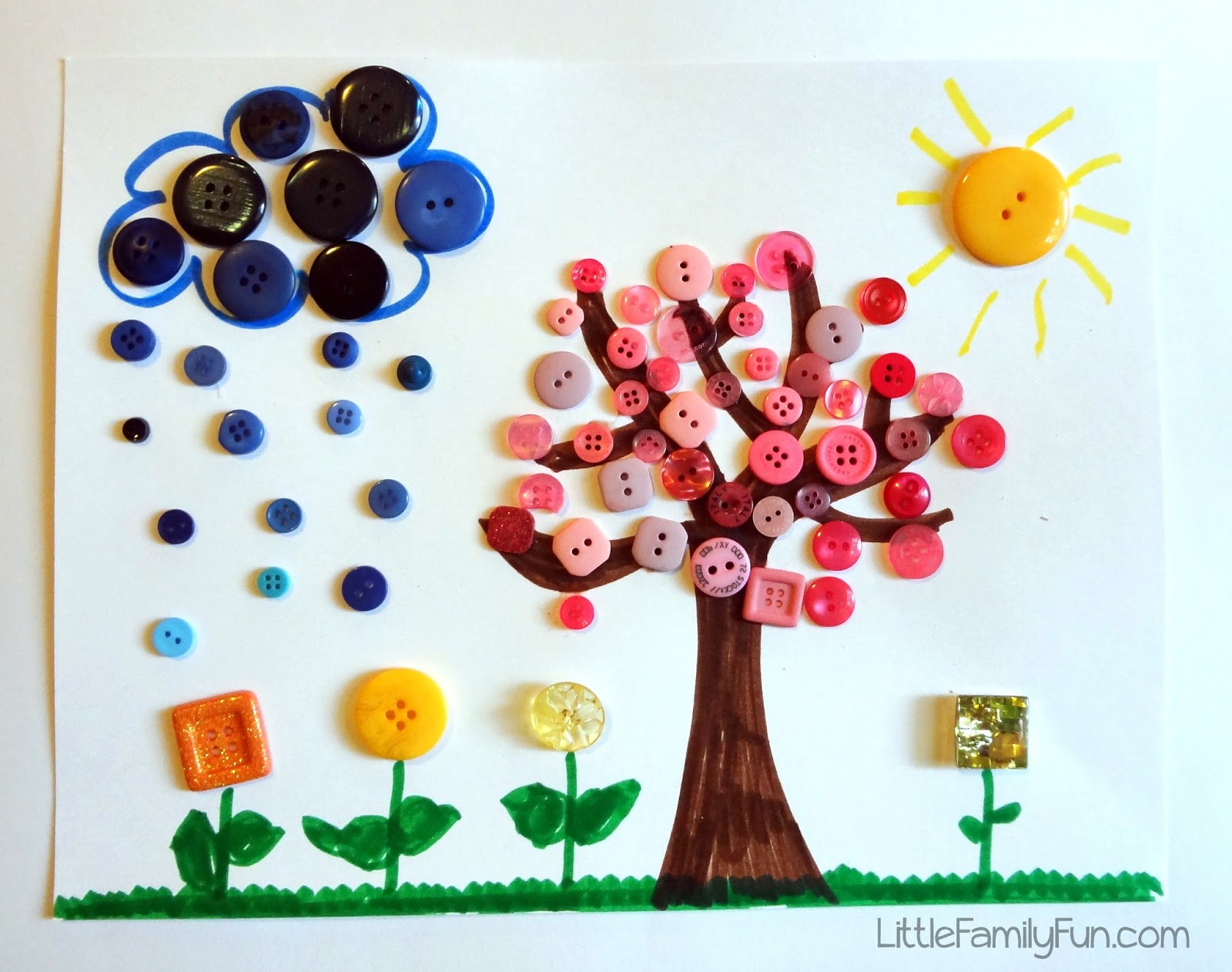 Best ideas about Arts And Crafts For Little Kids . Save or Pin Spring Button Craft for Kids Now.