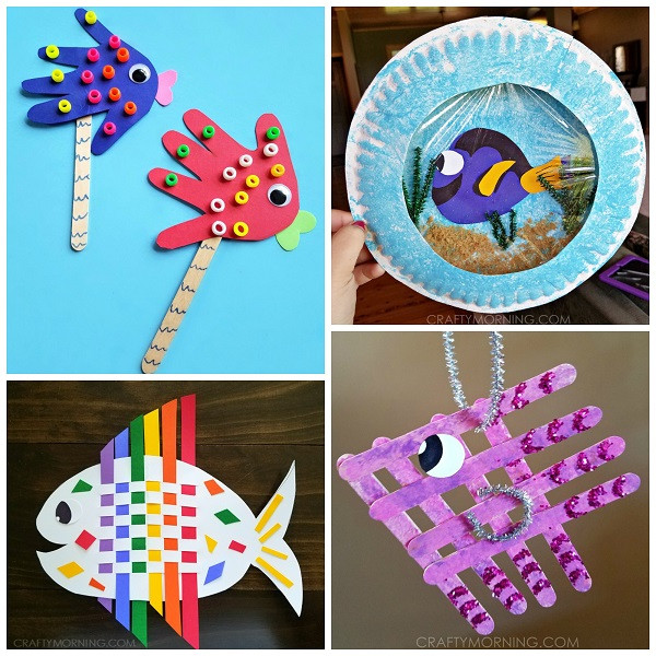 Best ideas about Arts And Crafts For Little Kids . Save or Pin Creative Little Fish Crafts for Kids Crafty Morning Now.
