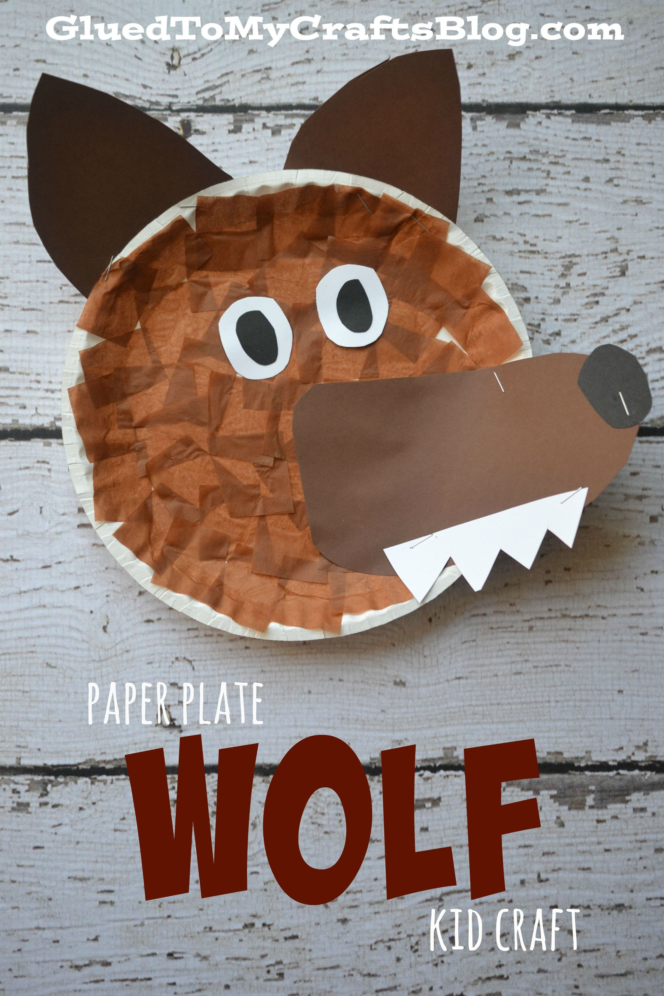 Best ideas about Arts And Crafts For Little Kids . Save or Pin Paper Plate Wolf Kid Craft Now.