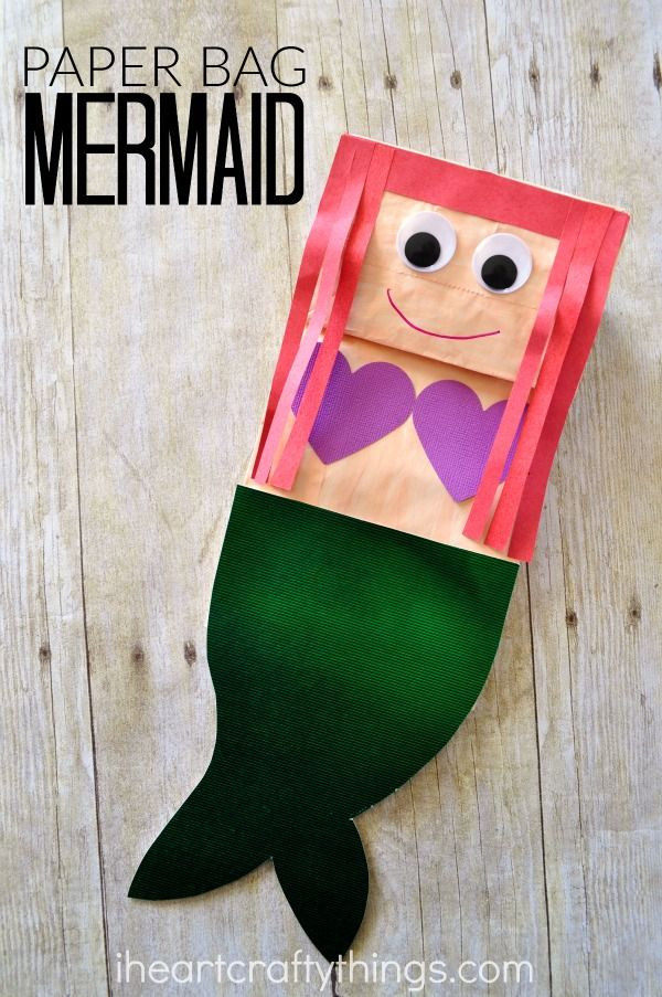 Best ideas about Arts And Crafts For Little Kids . Save or Pin Paper Bag Mermaid Craft for Kids Now.