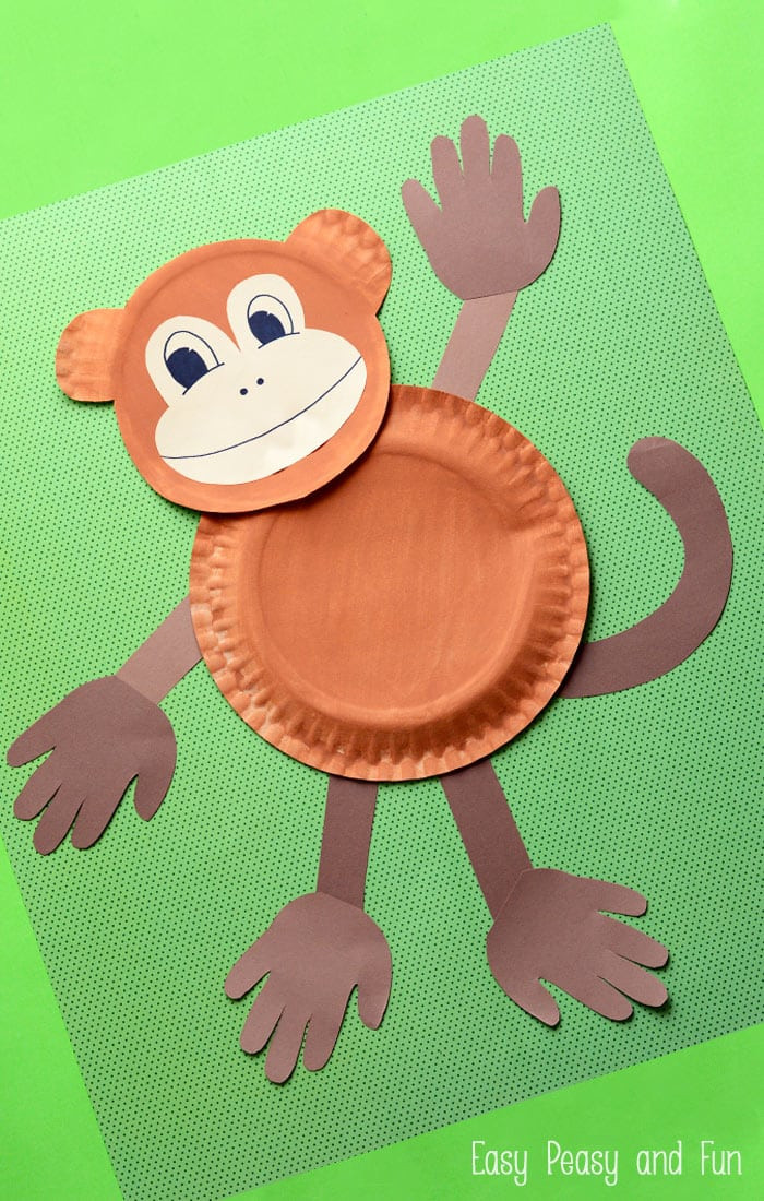 Best ideas about Arts And Crafts For Little Kids . Save or Pin Paper Plate Monkey Fun Paper Plate Crafts for Kids Now.
