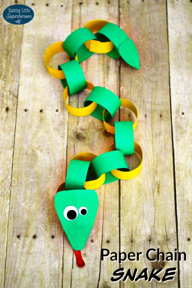 Best ideas about Arts And Crafts For Little Kids . Save or Pin How To Make A Paper Chain Snake Now.