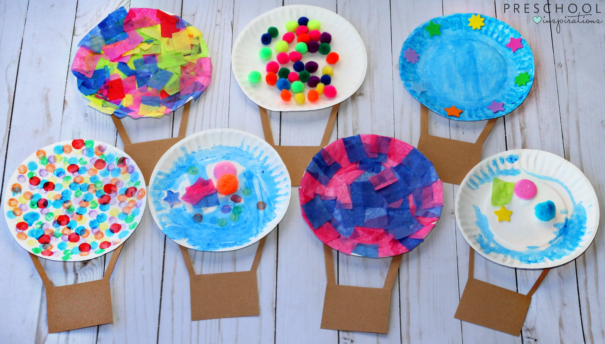 Best ideas about Arts And Crafts Projects For Kids . Save or Pin Hot Air Balloon Process Art Activity Preschool Inspirations Now.