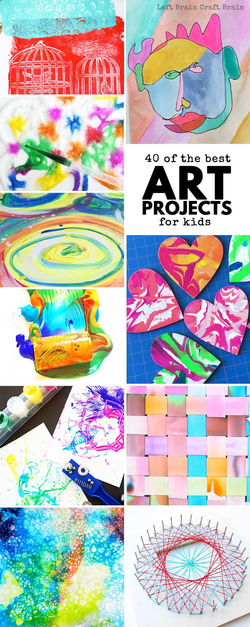 Best ideas about Arts And Crafts Projects For Kids . Save or Pin 40 of the Best Art Projects for Kids Left Brain Craft Brain Now.