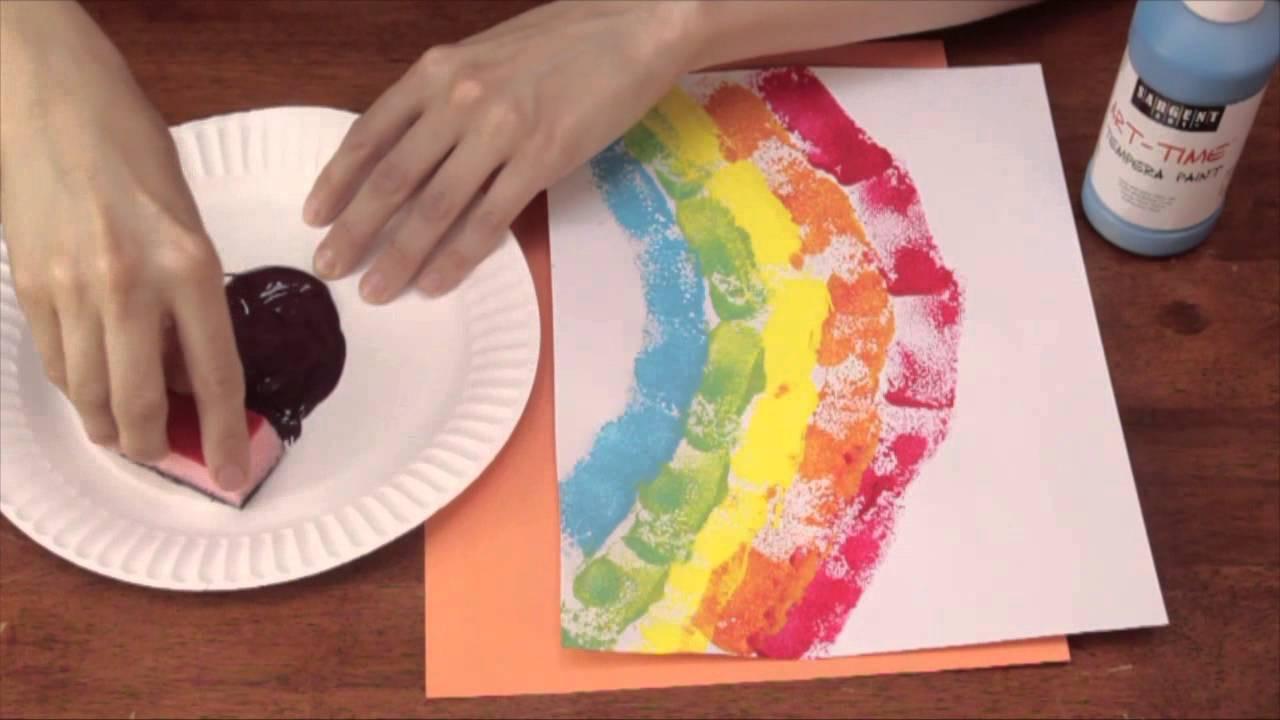 Best ideas about Arts Crafts For Preschoolers . Save or Pin Sponge Printing for Kindergarten Art Activities Crafts Now.
