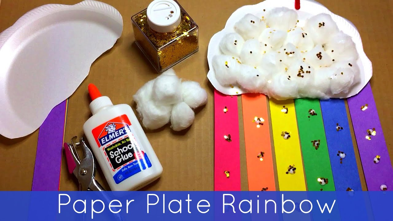 Best ideas about Arts Crafts For Preschoolers . Save or Pin Paper Plate Rainbow Preschool and Kindergarten Craft Now.