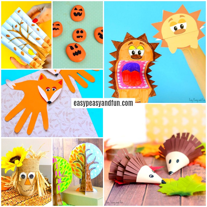 Best ideas about Arts N Craft For Kids . Save or Pin Fall Crafts For Kids Art and Craft Ideas Easy Peasy Now.