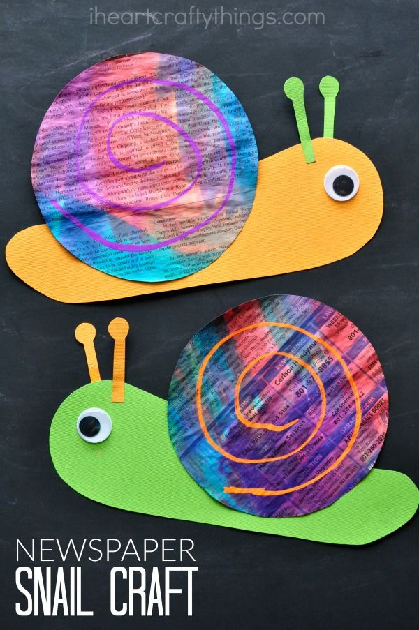Best ideas about Arts N Craft For Kids . Save or Pin Colorful Newspaper Snail Craft Activites Now.