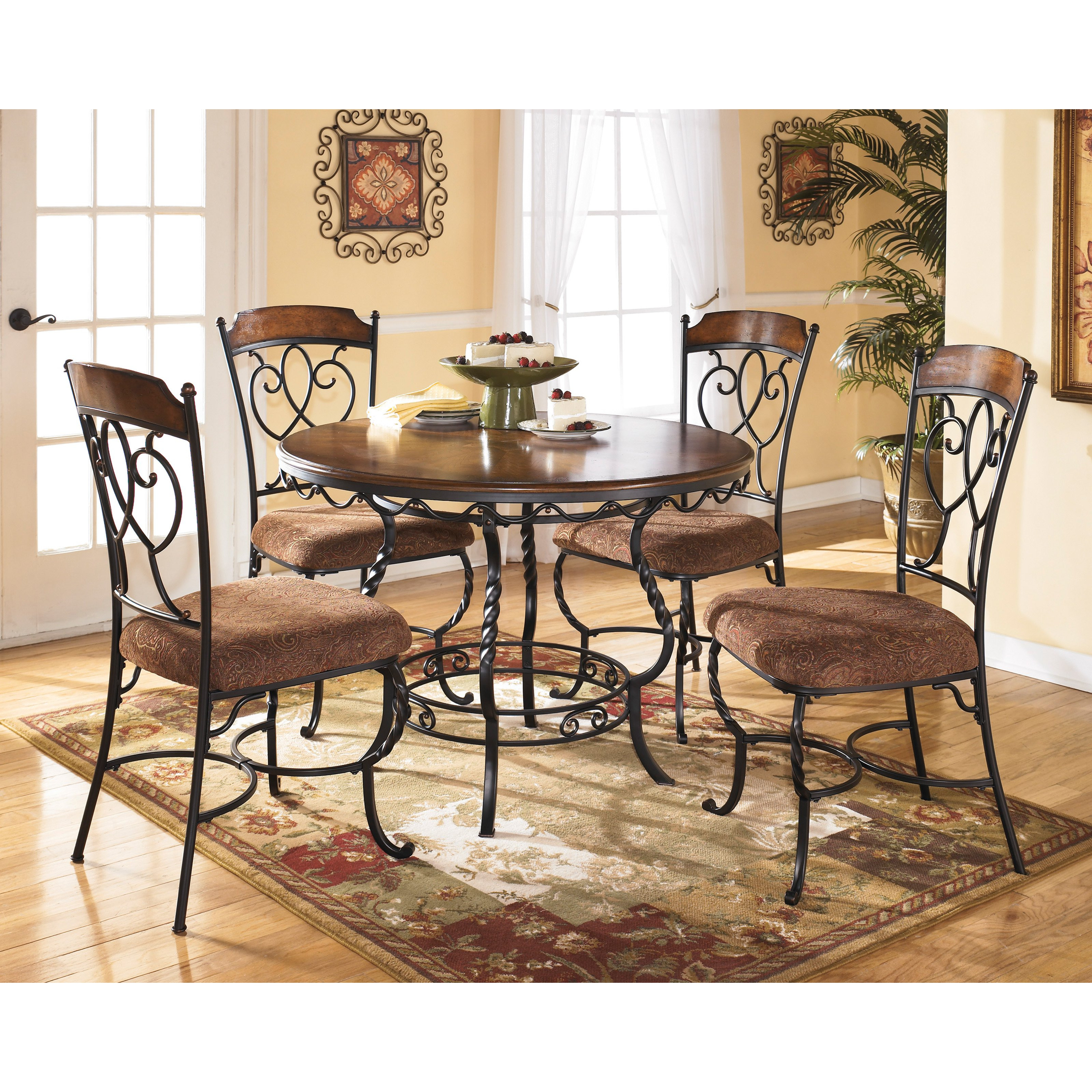 Best ideas about Ashley Furniture Dining Sets . Save or Pin Signature Design by Ashley Nola 5 Piece Round Dining Table Now.