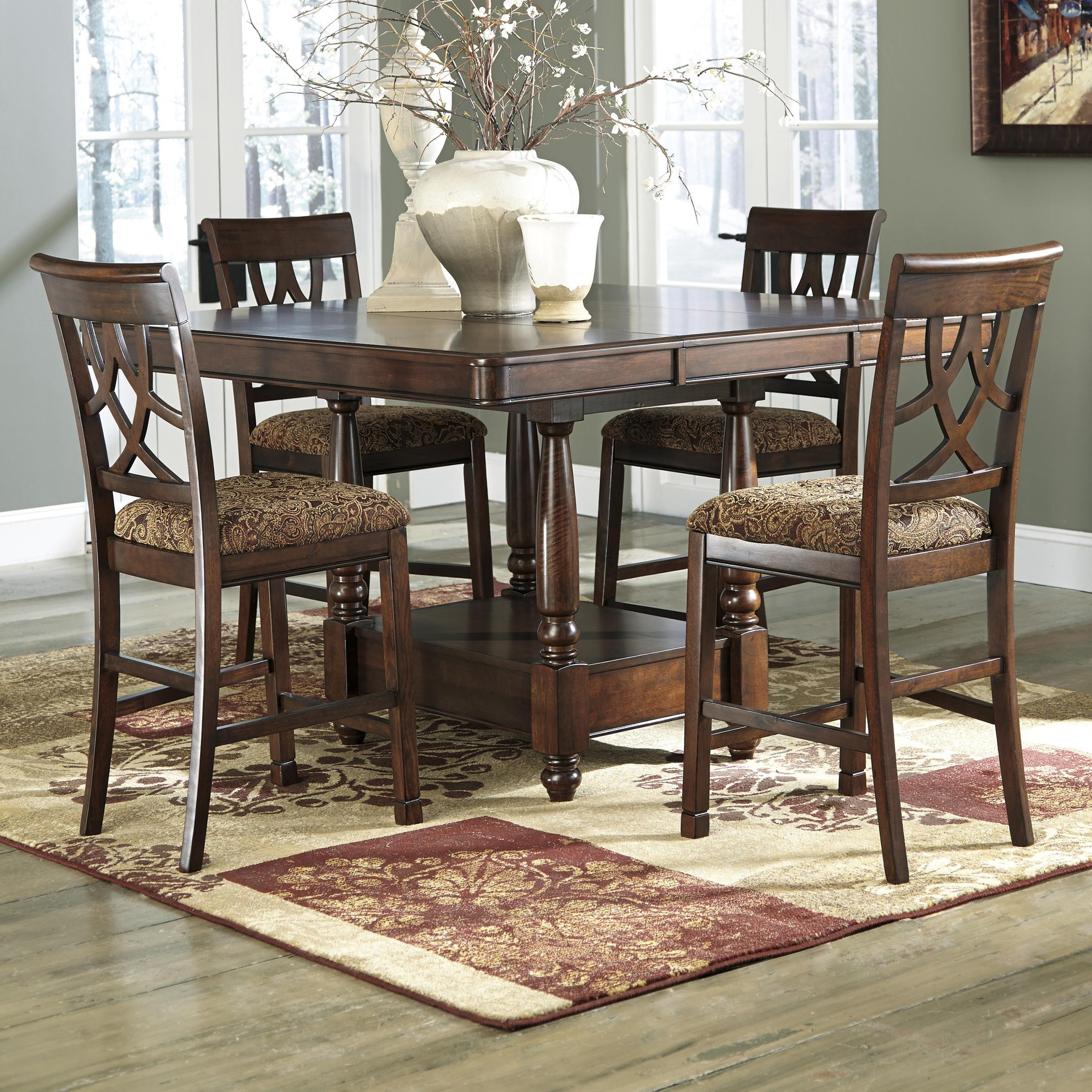 Best ideas about Ashley Furniture Dining Sets . Save or Pin Signature Design by Ashley Leahlyn 5 Piece Cherry Finish Now.