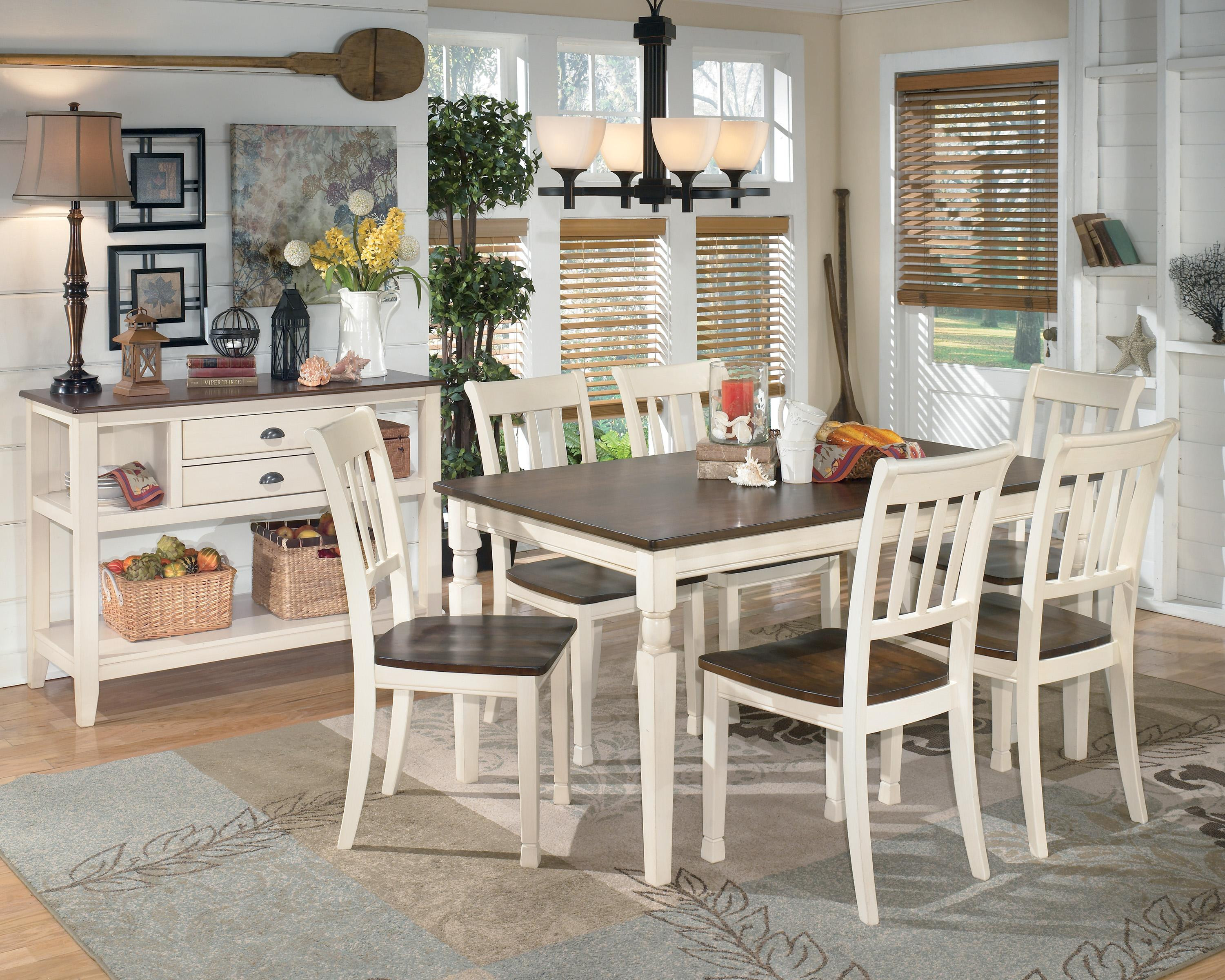 Best ideas about Ashley Furniture Dining Sets . Save or Pin Signature Design by Ashley Whitesburg 7 Piece Rectangular Now.