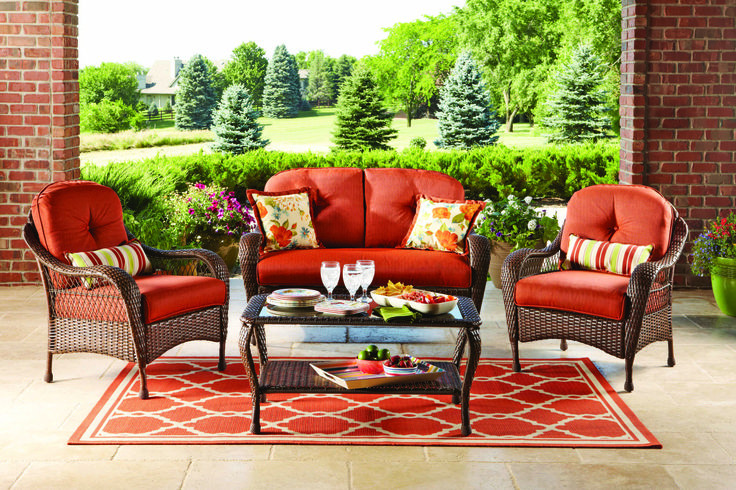 Best ideas about At Home Patio Furniture . Save or Pin Better Homes and Gardens Azalea Ridge 4 Piece Patio Now.