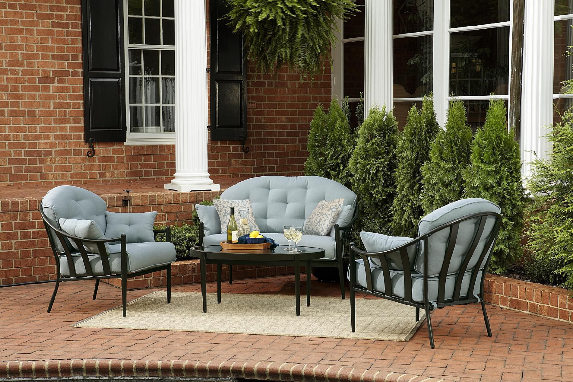 Best ideas about At Home Patio Furniture . Save or Pin Chandler 4pc Outdoor Seating Set Get Your Sumptuous Now.