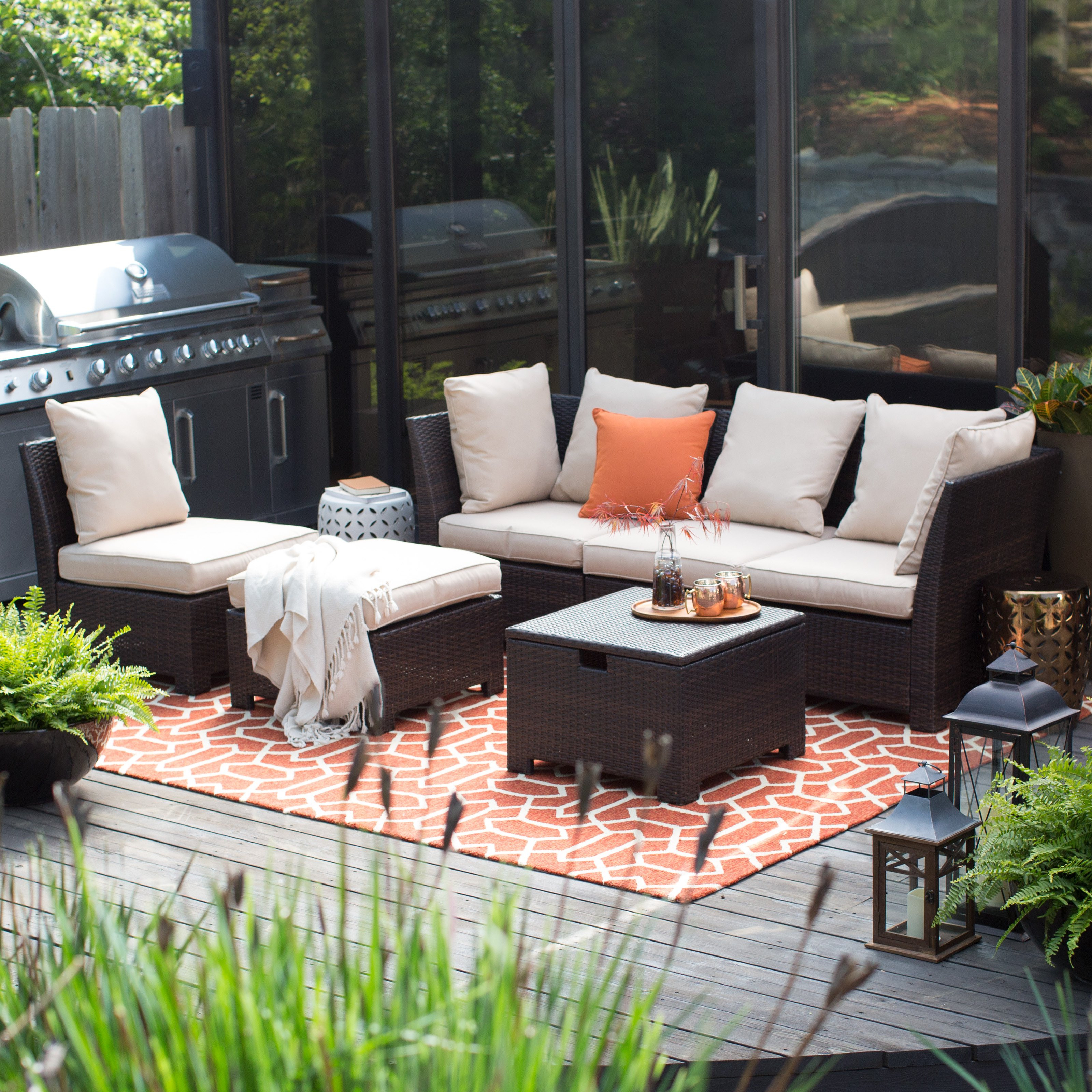Best ideas about At Home Patio Furniture . Save or Pin Coral Coast South Isle All Weather Wicker Dark Brown Now.