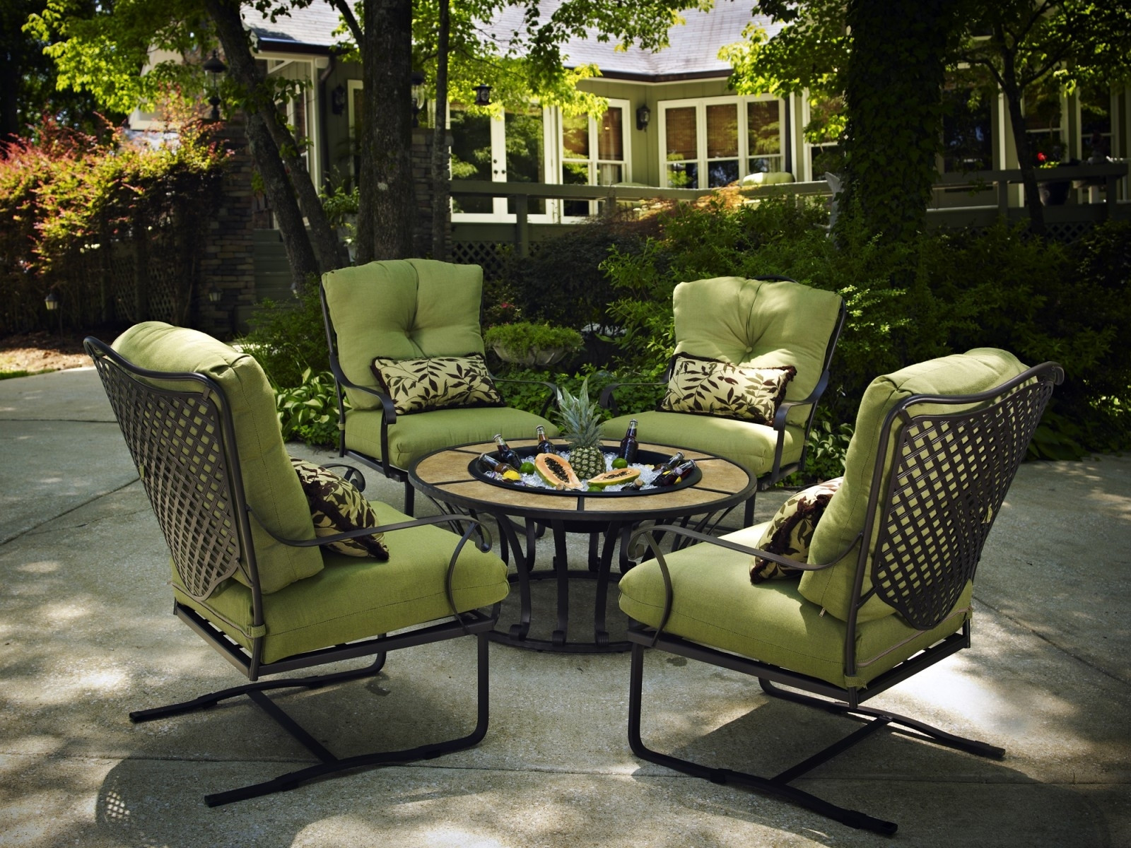 Best ideas about At Home Patio Furniture . Save or Pin Wrought Iron Patio Furniture Elegant Outdoor Living — The Now.