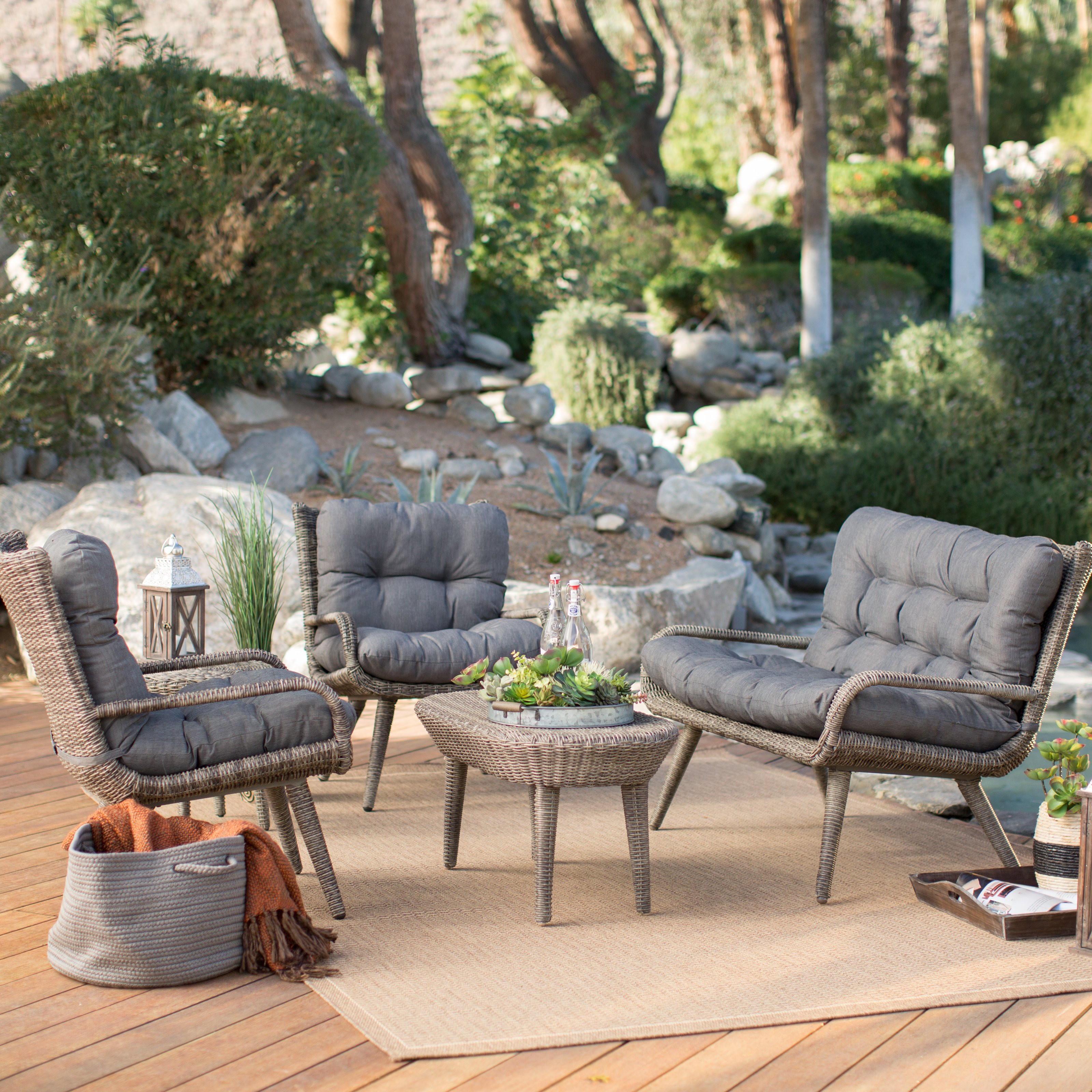 Best ideas about At Home Patio Furniture . Save or Pin Belham Living Rio All Weather Wicker Conversation Set Now.