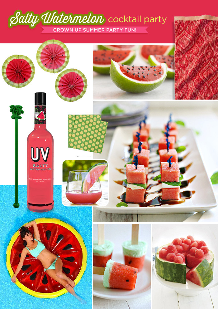"""Best ideas about August Themes For Adults . Save or Pin """"Salty Watermelon"""" Summer Cocktail Party Theme Hostess Now."""