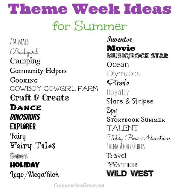 Best ideas about August Themes For Adults . Save or Pin Frugal Summer Fun Ideas Summer Theme Week Ideas Great Now.