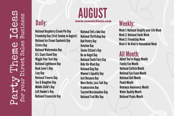 Best ideas about August Themes For Adults . Save or Pin August Home Party Themes Now.