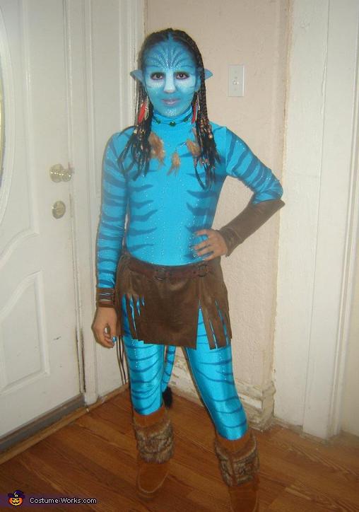Best ideas about Avatar Costume DIY . Save or Pin Homemade Avatar Neytiri Costume Now.