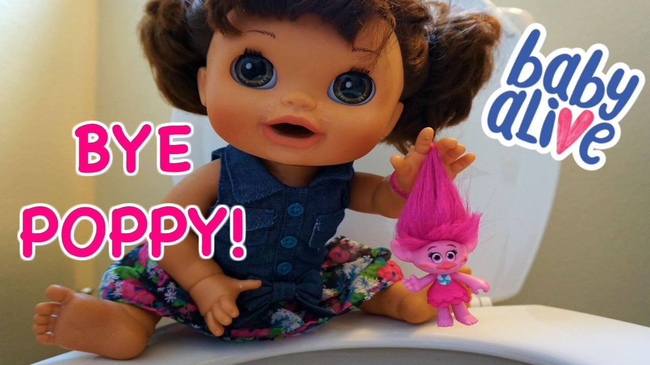 Best ideas about Baby Alive Toilet . Save or Pin BABY ALIVE Pumpkin Flushes Trolls Down Toilet Now.