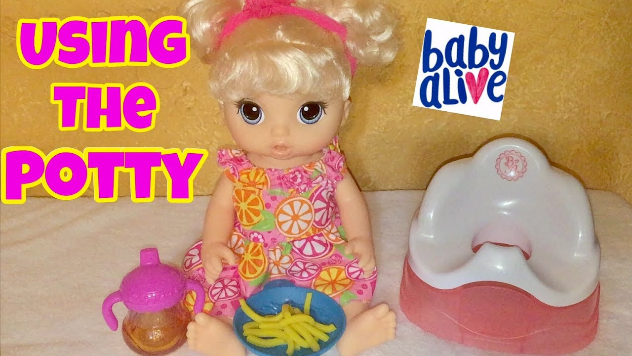 Best ideas about Baby Alive Toilet . Save or Pin Baby Alive Snackin Noodles tries the potty chair 2017 NEW Now.