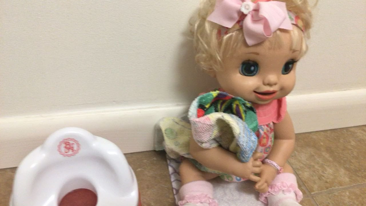 Best ideas about Baby Alive Toilet . Save or Pin Baby Alive Clara Potty Trains Learns to Potty Now.