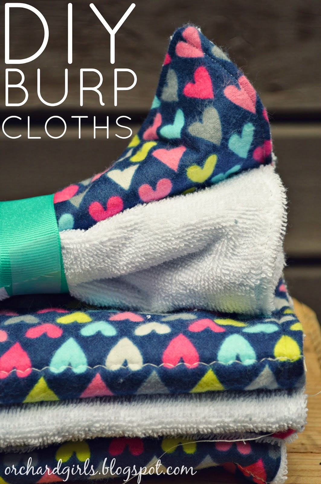 Best ideas about Baby Burp Cloths DIY . Save or Pin Orchard Girls DIY Baby Burp Cloths Now.