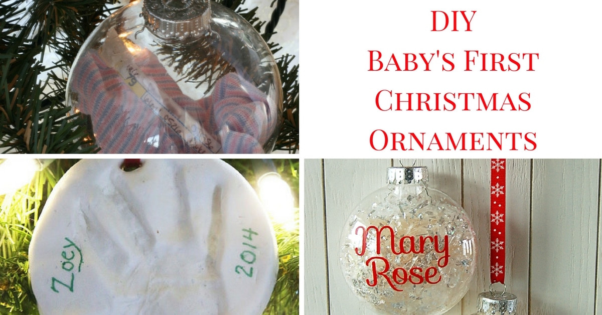 Best ideas about Baby First DIY . Save or Pin DIY Baby's First Christmas Ornaments Now.