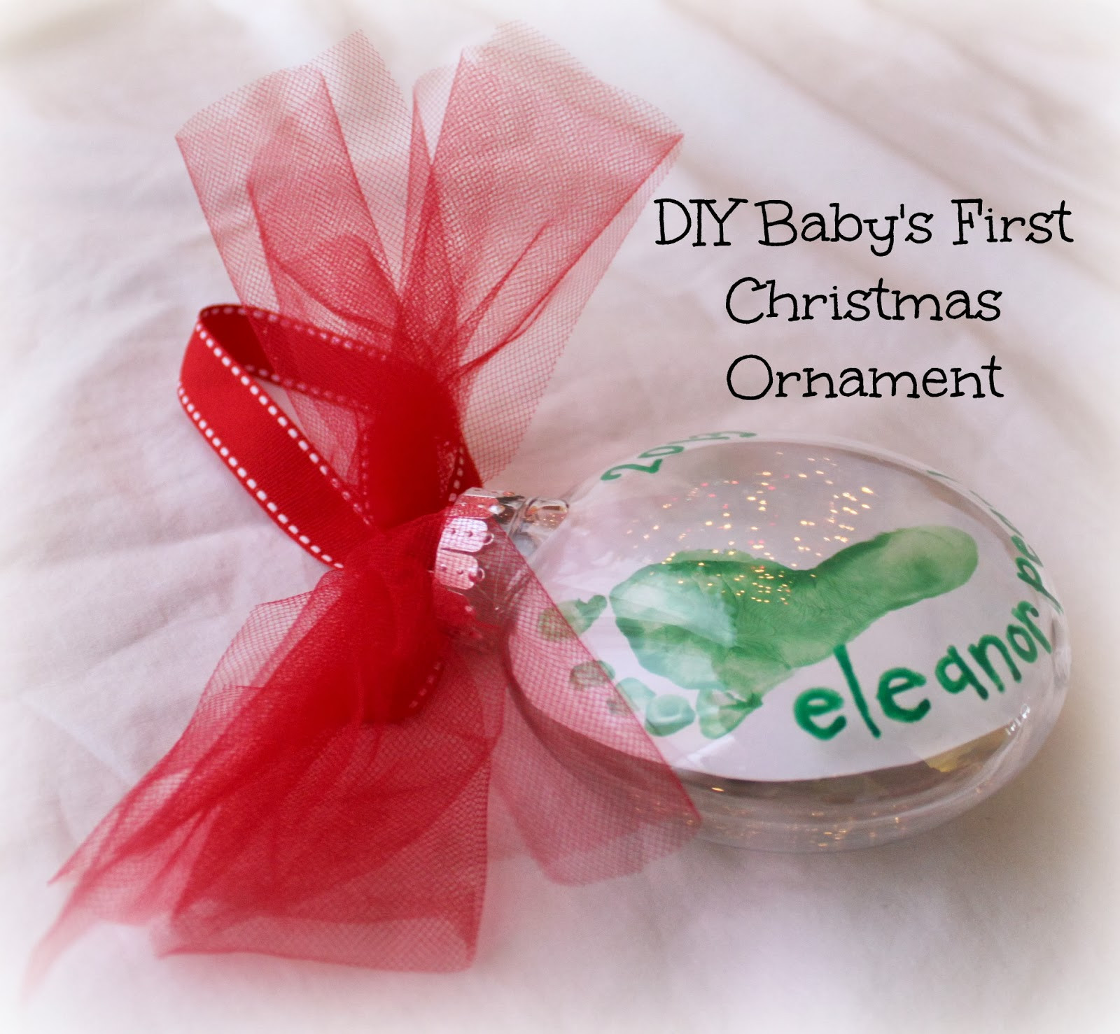 Best ideas about Baby First DIY . Save or Pin DIY Baby s First Christmas Footprint Ornament For Under Now.