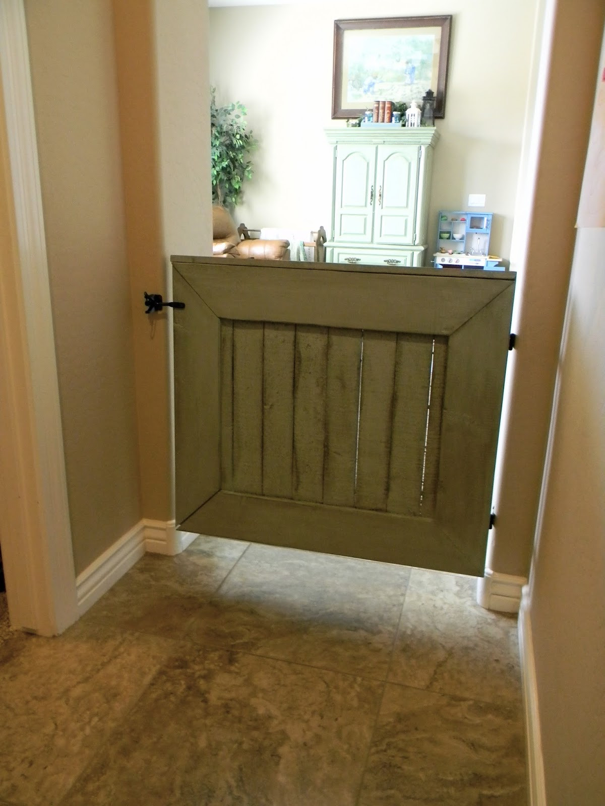 Best ideas about Baby Gate DIY . Save or Pin Little Bit of Paint DIY Baby Gate Now.
