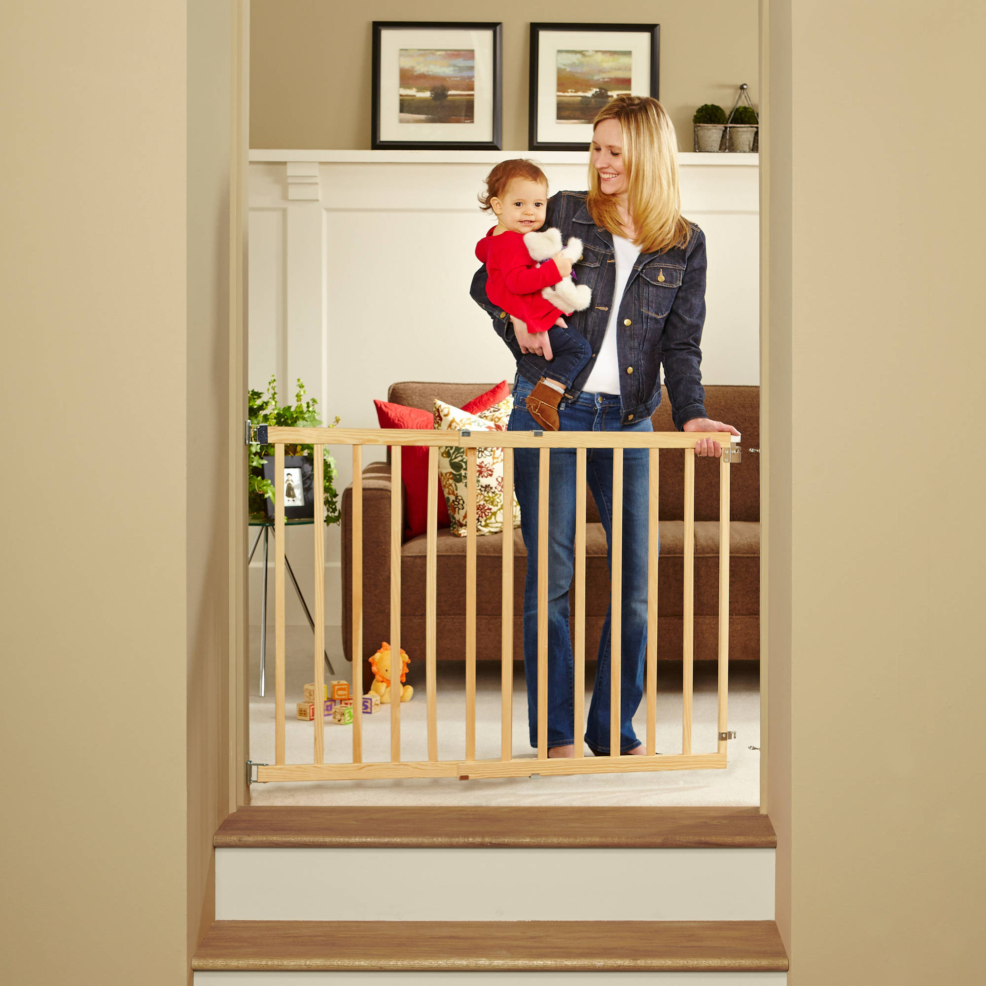 Best ideas about Baby Gate For Top Of Stairs . Save or Pin North States Tall Stairway Swing Gate Top of Stairs Baby Now.