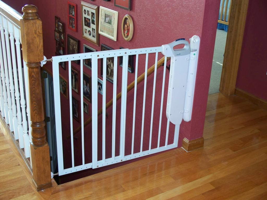 Best ideas about Baby Gate For Top Of Stairs . Save or Pin Baby Gates For Stairs With Railings Now.