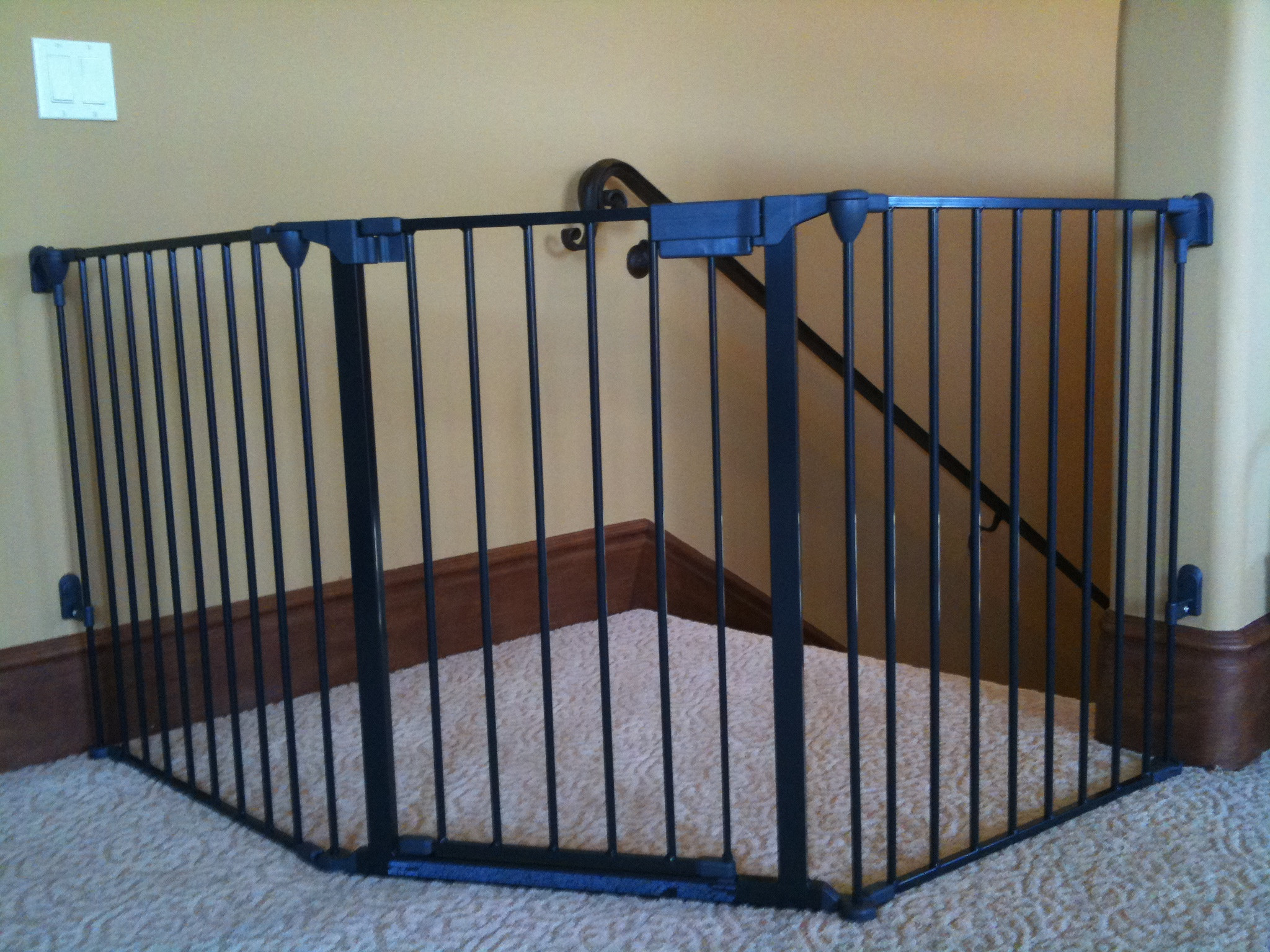Best ideas about Baby Gate For Top Of Stairs . Save or Pin Custom large and wide child safety gates Now.