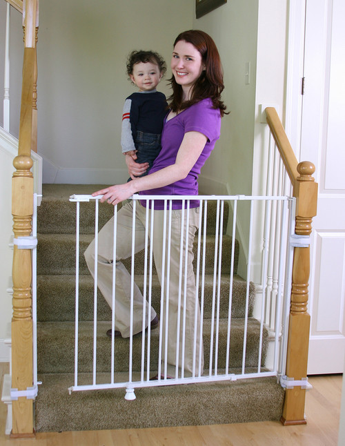 Best ideas about Baby Gate For Top Of Stairs . Save or Pin Extra Tall Top of Stairs Baby Gate Now.