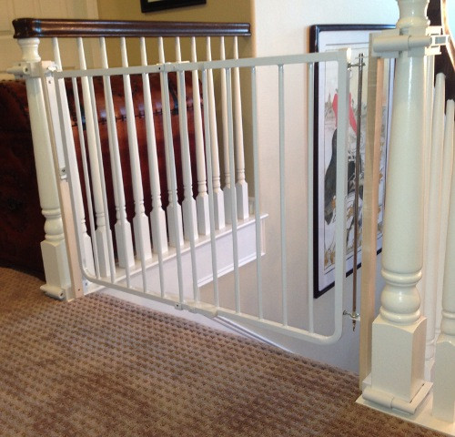 Best ideas about Baby Gate For Top Of Stairs . Save or Pin Custom Baby Gate Wall and Banister No Holes Installation Now.