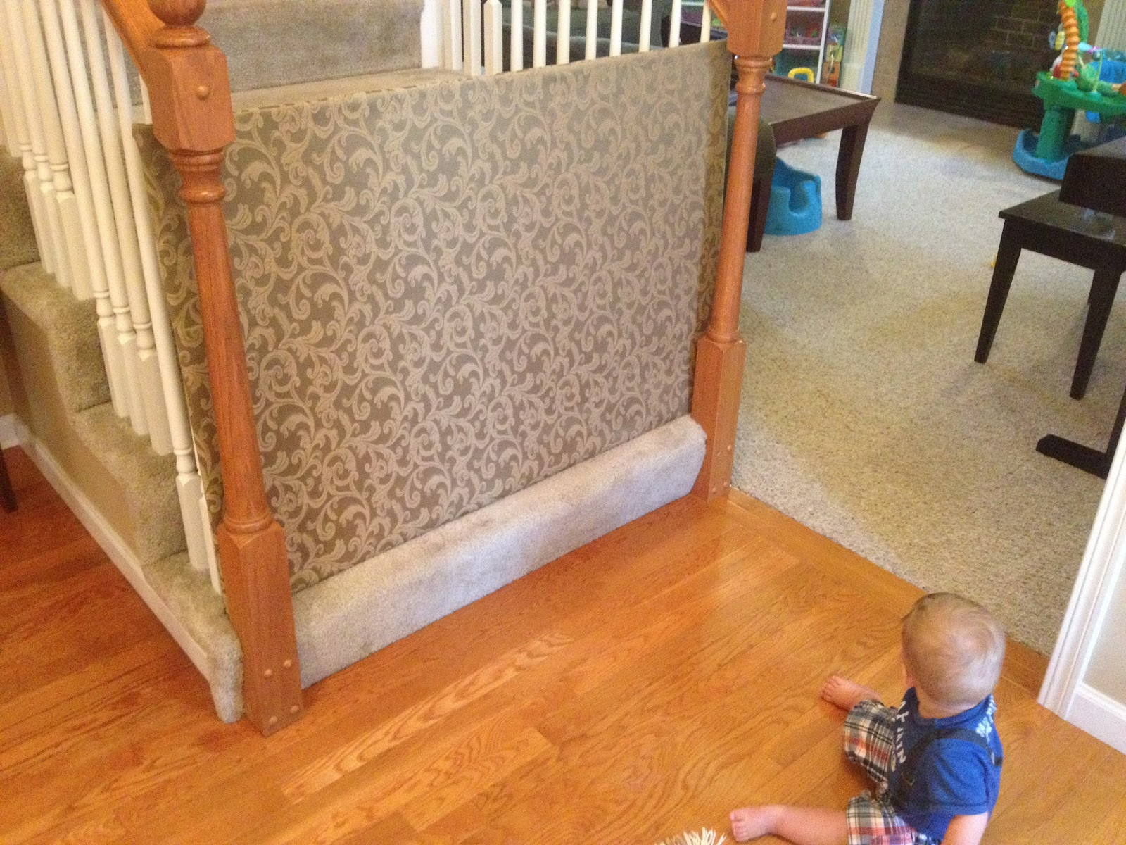Best ideas about Baby Gates DIY . Save or Pin A Pair of Schues DIY Baby Gate Now.