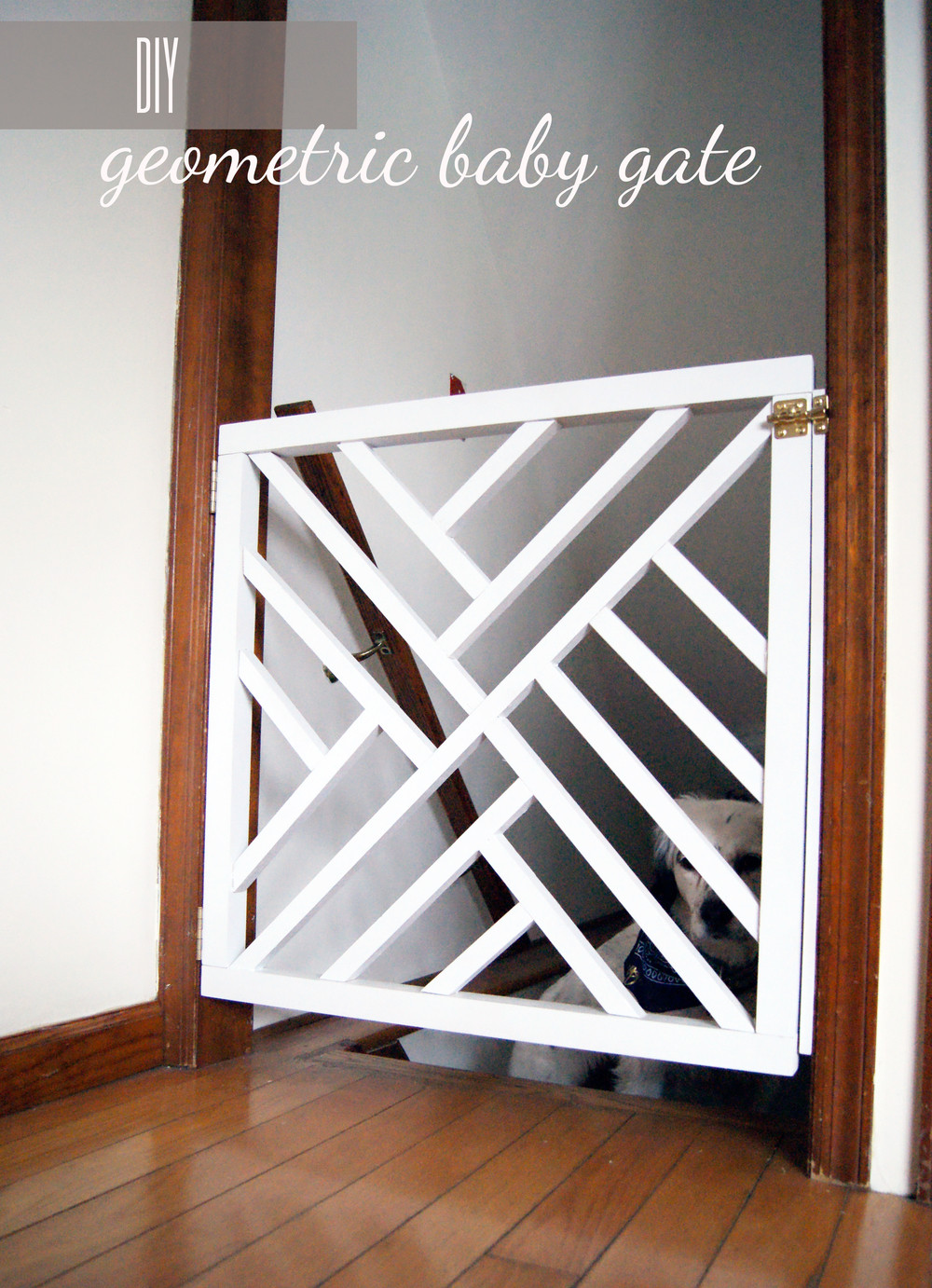 Best ideas about Baby Gates DIY . Save or Pin DIY Geometric Baby Gate — Undeclared Panache Now.