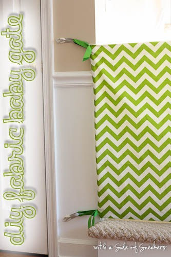 Best ideas about Baby Gates DIY . Save or Pin Homemade Fabric Baby Gate Now.